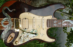 The Dragon - Custom guitar build by Steve Finley